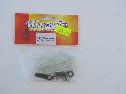Lighter double G10 resin horns with ball joints Elevator/Aileron A-017
