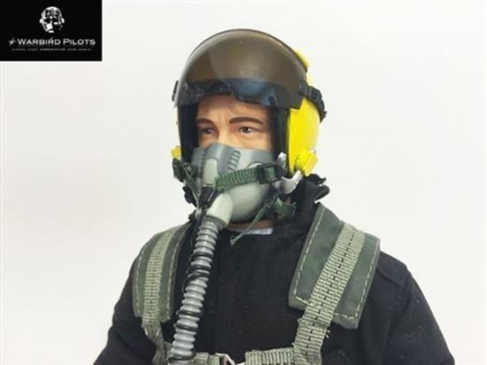 Picture of 1/5~1/6 Modern Jet RC Pilot Figure (Black / Yellow)
